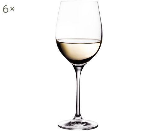 Kryształowy kieliszek do białego wina Harmony, 6 szt., Szkło kryształowe o najwyższym połysku, szczególnie widocznym poprzez odbijanie światła Magiczny blask sprawia, że każdy łyk wina jest wyjątkowym doznaniem, Transparentny, 390 ml