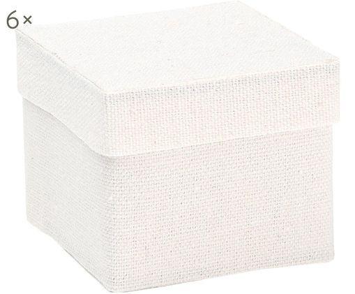 Confezioni regalo Square, 6 pz., Cotone, Bianco, Larg. 5 x Alt. 5 cm
