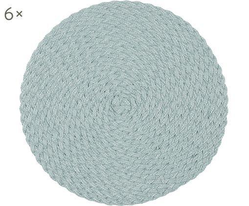 Tovaglietta americana in plastica rotonda Avon 6 pz, Polipropilene, Verde menta, Ø 38 cm