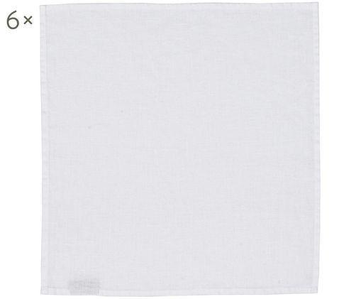 Tovagliolo di lino Ruta, 6 pz., Candido, P 43 x L 43 cm