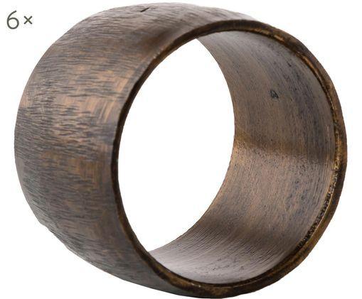 Serviettenringe Oppar, 6 Stück, Aluminium, beschichtet, Kupferfarben, Ø 4 cm