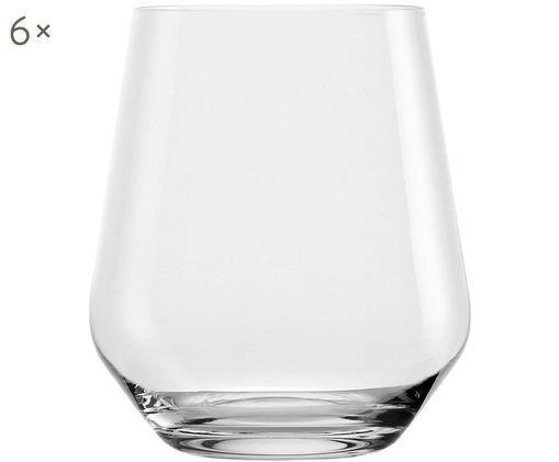 Křišťálová sklenice na vodu Revolution, 6 ks, Transparentní
