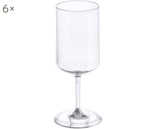 Bruchfeste Kunststoff-Weißweingläser Cheers, 6 Stück, Transparent