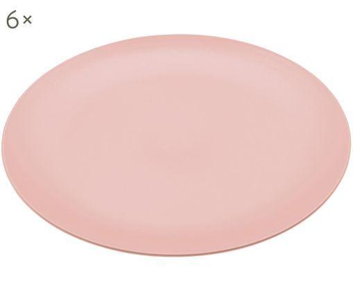 Kunststoff-Speiseteller Rondo, 6 Stück, Rosa