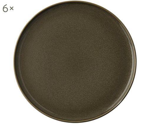 Assiettes à dessert Kolibri, 6 pièces, Brun-gris foncé