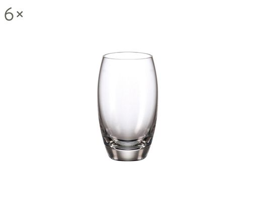 Bicchieri Cheers 6 pz, Cristallo, Trasparente, Ø 4 x Alt. 7 cm