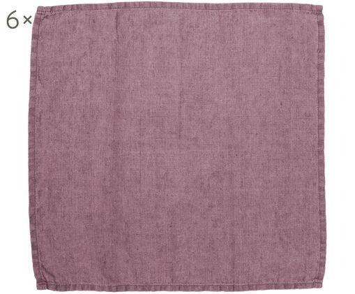Tovaglioli di lino Ruta, 6 pz., Porpora, P 43 x L 43 cm