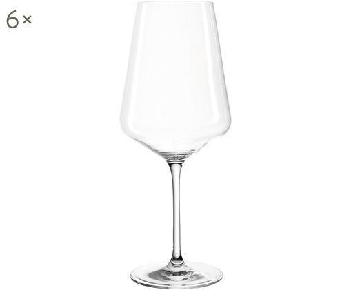 Set 6 bicchieri vino rosso Puccini, Cristallo, Trasparente, Ø 11 x Alt. 26 cm