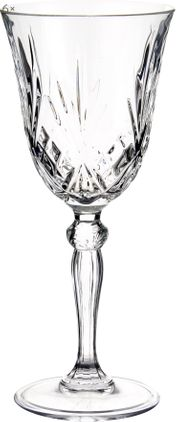 Kristall-Weißweingläser Melodia mit Reliefmuster, 6er-Set