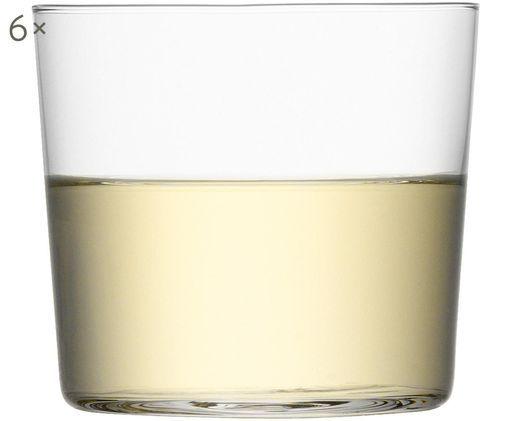 Vasos de cristal fino Gio, 6uds., Vidrio, Transparente, Ø 8 x Al 7 cm