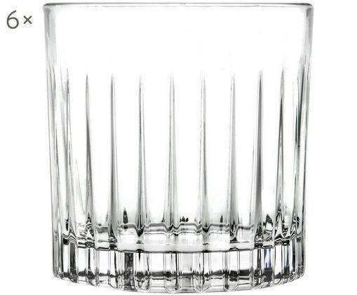 Křišťálová sklenice na whisky Timeless, 6 ks, Transparentní