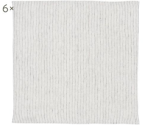 Set du 6 tovaglioli Svete, Crema , nero, P 43 x L 43 cm