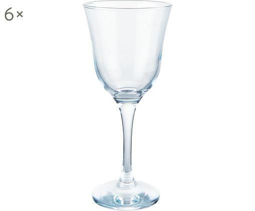 Rotweingläser Sheer Blue, 6er-Set, Glas, Türkis, transparent, Ø 10 x H 21 cm