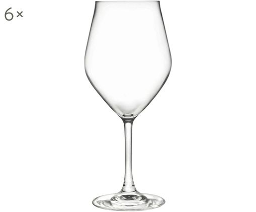 Copas de vino blanco de cristal Eno, 6uds., CristalLuxion, Transparente, Ø 10 x Al 22 cm