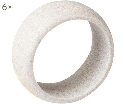 Portatovaglioli Kit, 6 pz., Pietra arenaria, Bianco calcare, Ø 5 x A 2 cm