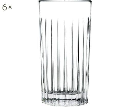Křišťálová sklenice na long drink Timeless, 6 ks, Transparentní