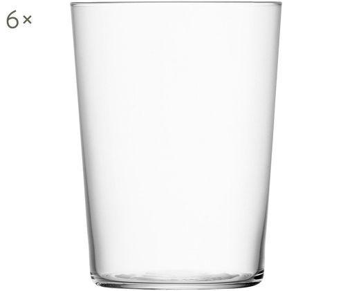 Filigrane Wassergläser Gio aus dünnem Glas, 6er-Set, Glas, Transparent, Ø 9 x H 12 cm