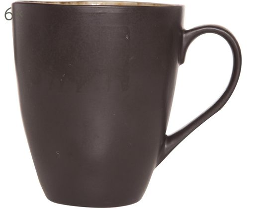 Kaffeetassen Lagune, 6 Stück, Graubraun, Hellgrau