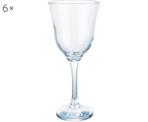 Weißweingläser Sheer Blue, 6er-Set, Glas, Türkis, transparent, Ø 9 x H 20 cm