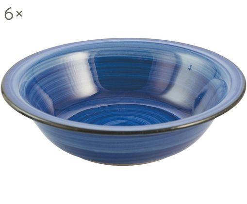 Assiettes creusesBaita, 6 pièces, Bleu