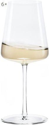 Kristall-Weißweingläser Power in Kegelform, 6er-Set