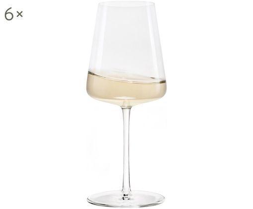 Bicchieri da vino bianco di cristallo Power, 6 pz., Cristallo, Trasparente, Ø 9 x Alt. 21 cm