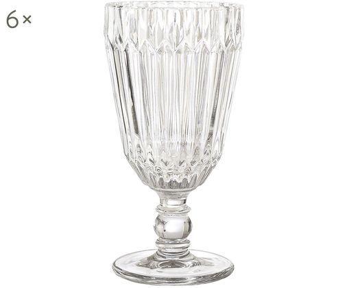 Bicchieri di vino bianco Structure, 6 pz., Vetro, Trasparente, Ø 8 x A 16 cm