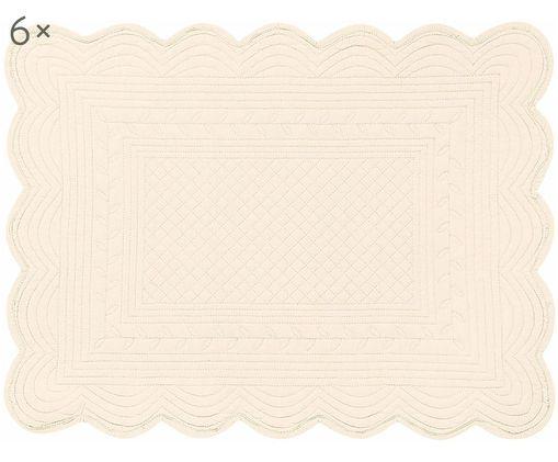 Tovaglietta Boutis, 6 pz., Cotone, Color avorio, P 34 x L 48 cm