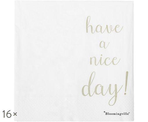 Tovaglioli di carta Nipps, 16 pz., Bianco, dorato