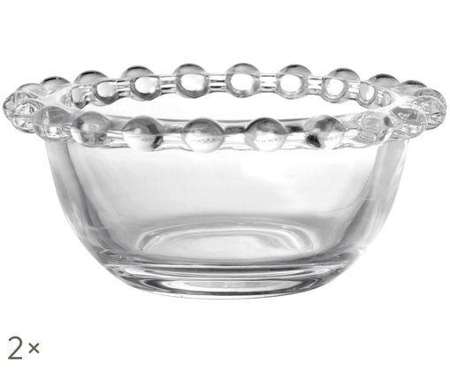 Ciotola Perles, 2 pz., Trasparente