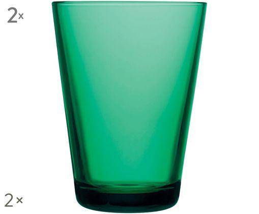 Szklanka do wody Kartio, 2 szt., Szmaragdowy