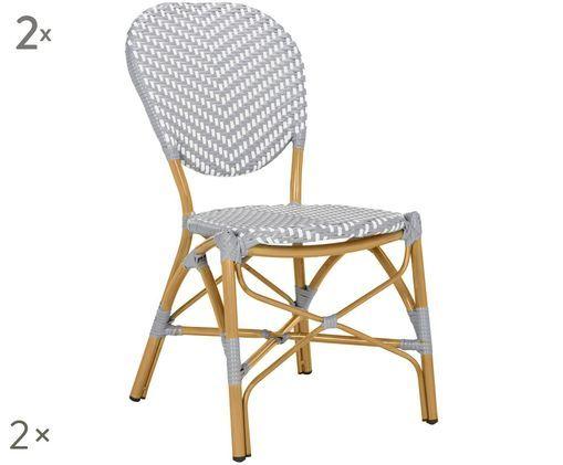 Chaises de jardin Promenade, 2pièces, Gris