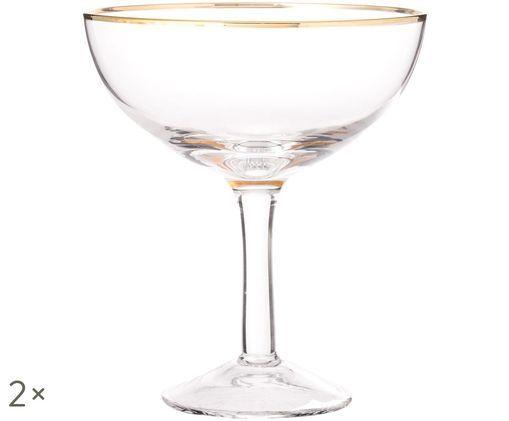 Flute da champagne in vetro soffiato Coppa, 2 pz., Trasparente