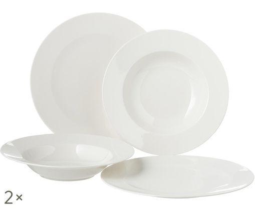 Servizio di porcellana For Me, 8 pz., Bianco