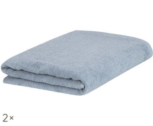 Asciugamano Comfort, 2 pz., Azzurro