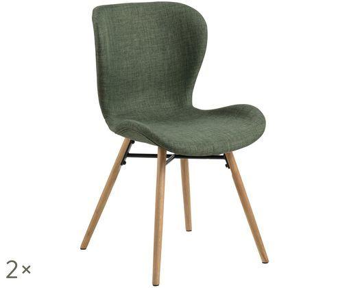 Gestoffeerde stoelen Batilda, 2 stuks, Groen
