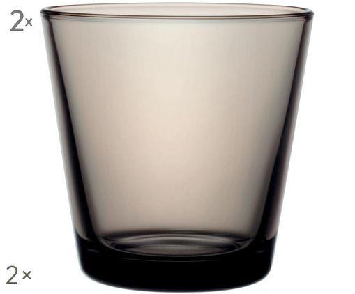 Szklanka do wody Kartio, 2 szt., Odcienie piaskowego