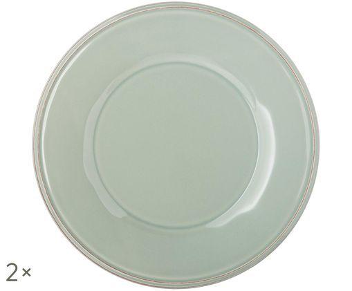 Piatto da colazione Constance, 2 pz., Blu, turchese
