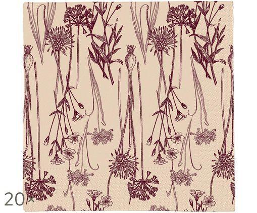 Tovaglioli di carta Sigval, 20 pz., Beige, rosso