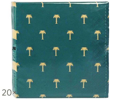 Servilletas de papel Palmtree, 20uds., Verde, dorado