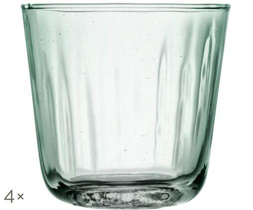 Szklanka do wody Mia, 4 szt., Turkusowy, transparentny