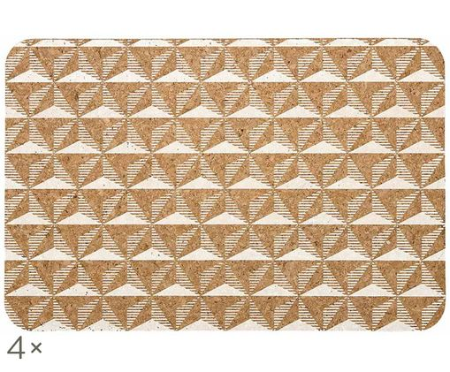Set tovagliette Illusion, 4 pz., Marrone, bianco