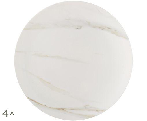 Speiseteller Venato Imperial, 4 St, Bianco, marmo