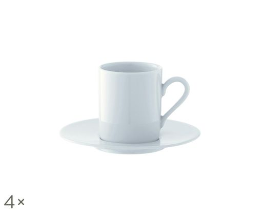 Set tazzine da caffè Bianco, 8 pz., Bianco