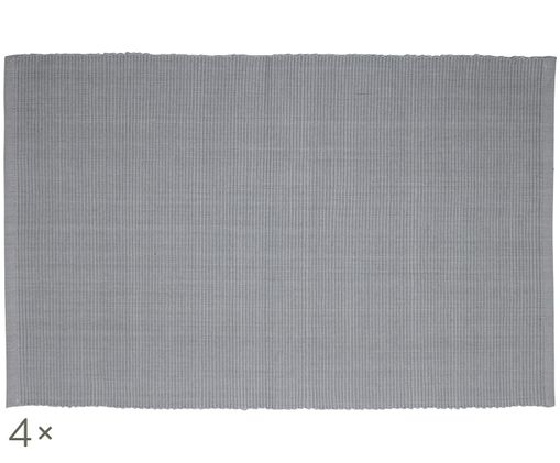 Set tovagliette Ribby, 4 pz., Grigio