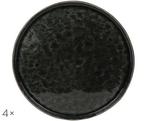 Piatti piani Lagune, 4 pz., Marrone grigiastro, nero verde