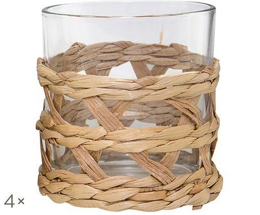 Szklanka do wody Osier, 4 szt., Transparentny, brązowy