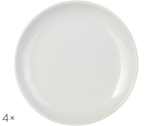 Piatto da colazione Bisque, 4 pz., Sopra: bianco, smaltato Sotto: bianco, non smaltato