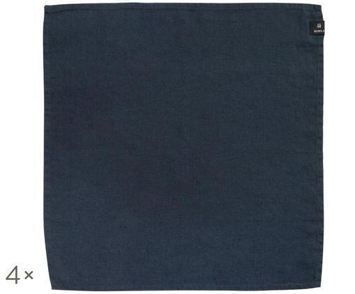 Tovagliolo di lino Sunshine, 4 pz., Blu acciaio