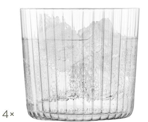 Szklanka do wody ze szkła dmuchanego Gio, 4 szt., Transparentny